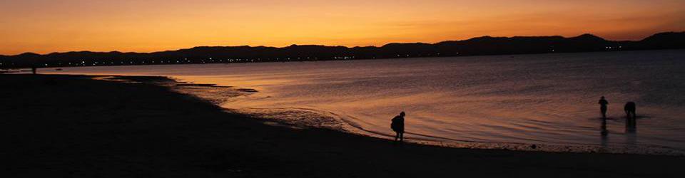 Pôr do sol na praia da ponte- Salinas