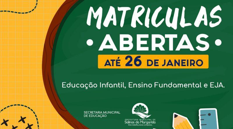 Matriculas Abertas!!!